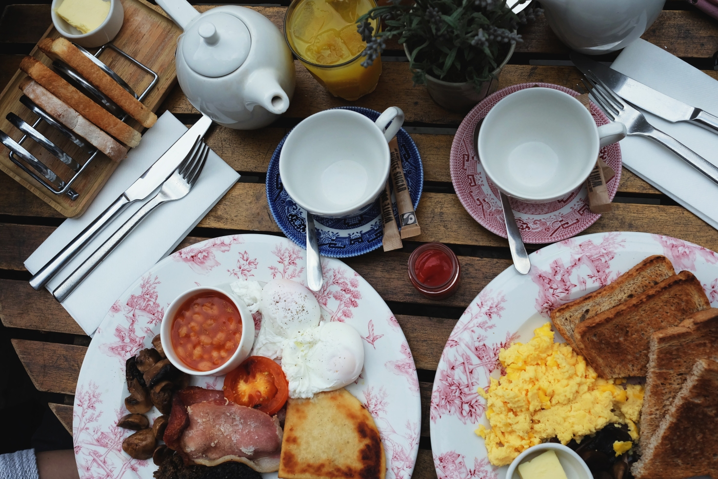 english breakfast in Edinburgh