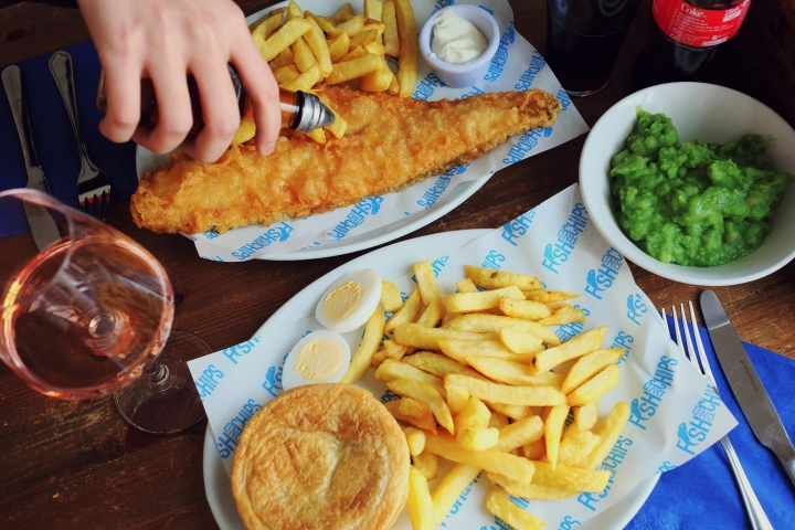 Nothing more British than fish andchips