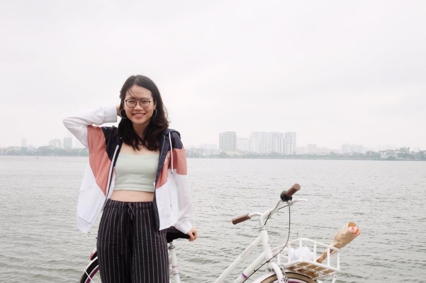 đạp xe ở Hồ Tây Hà Nội
